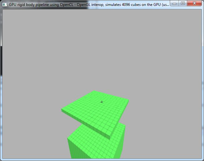 OpenCL Rigid Body Simulation Test, GeForce GTX 460
