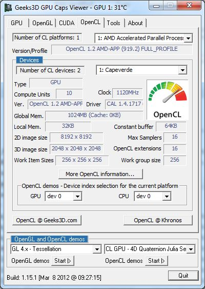 Catalyst 12.2, OpenCL version