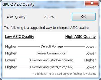 EVGA GTX 580 Classified ULtra, GPU-Z, ASIC quality