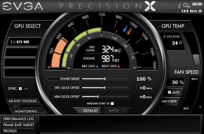 GeForce GTX 680, EVGA Precision