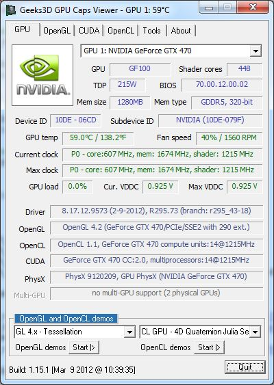 GPU Caps Viewer 1.15.1
