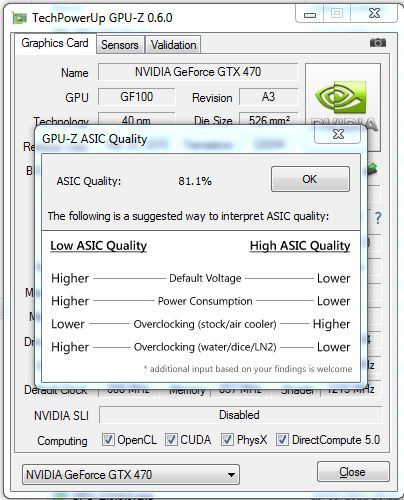 GPU-Z 0.6.0, ASIC quality of GeForce GTX 470