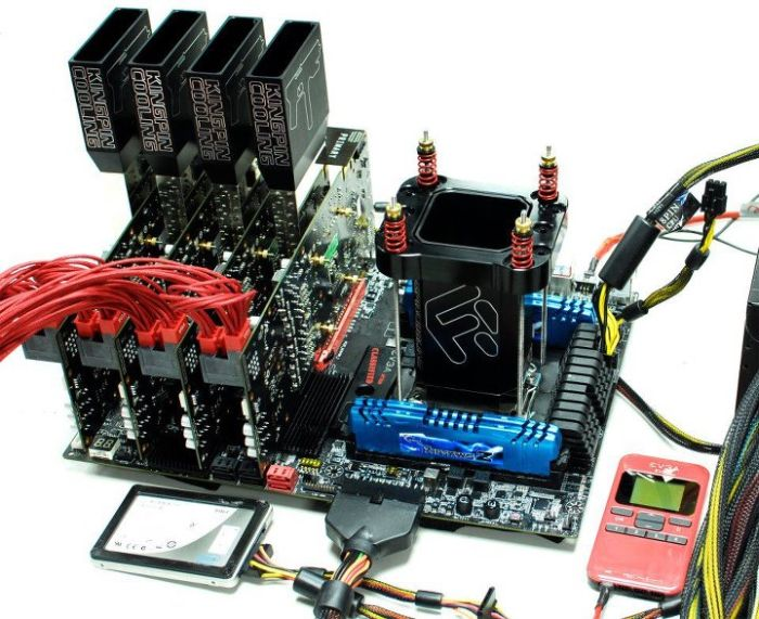 latest LN2-ready system based on EVGA hardware (4-way SLI GeForce GTX ...
