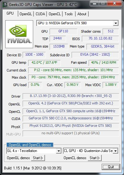 NVIDIA R300.99 for GTX 680, GPU Caps Viewer