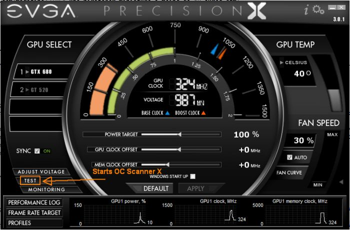 EVGA Precision X and OC Scanner X