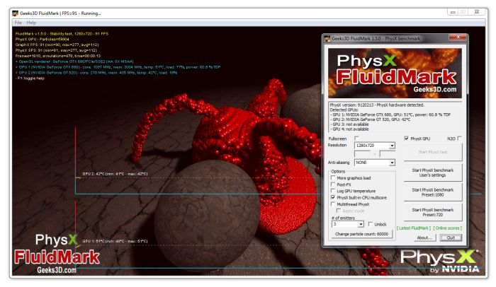 FluidMark 1.5.0 PhysX Benchmark