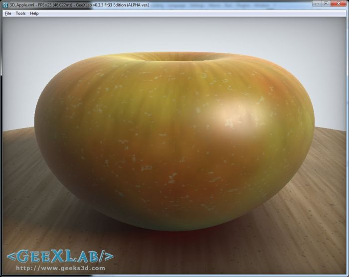 GeeXLab, procedural apple