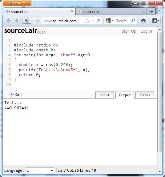 Sourcelair Online Ide For Programming In C C Java