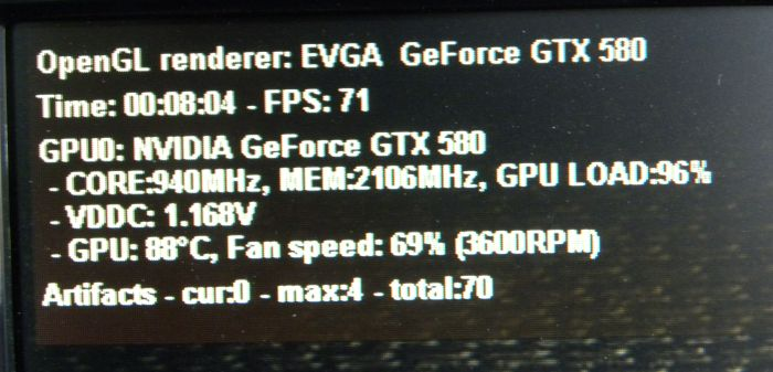 EVGA OC Scanner X + GTX 580 Classified + artifacts