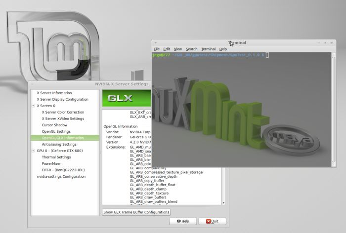 Linux mint 13, transparent terminal