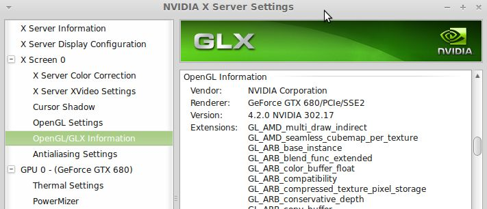 NVIDIA graphics drivers, Linux