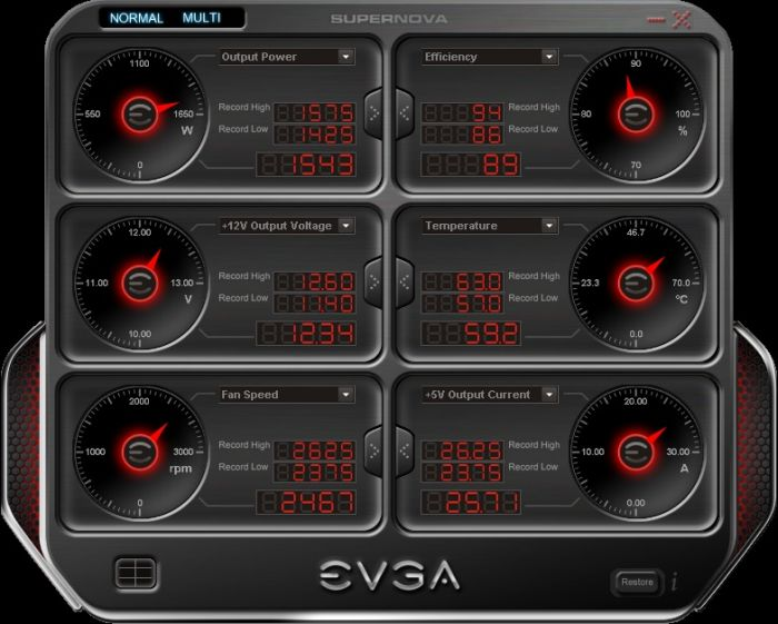 EVGA SuperNOVA PSU Monitoring Software