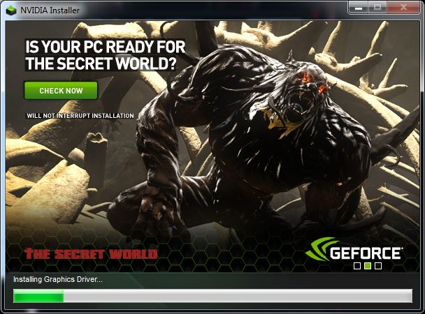NVIDIA GeForce drivers installation