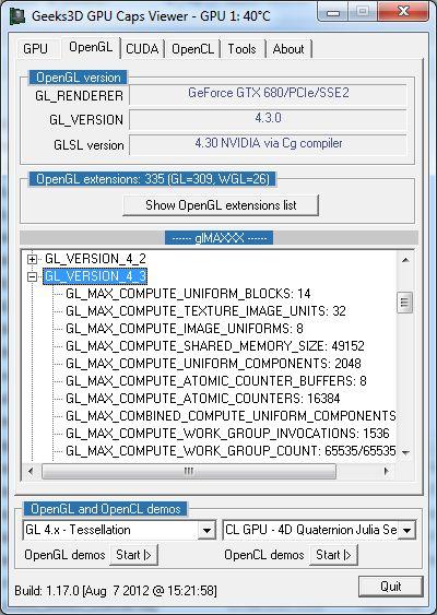 GPU Caps Viewer and Open