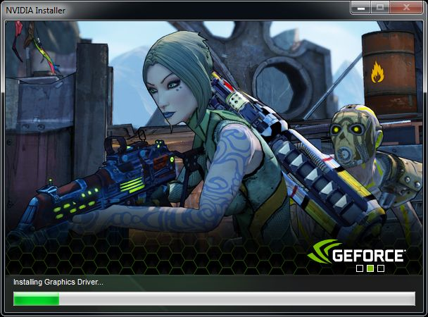 NVIDIA GeForce driver installer