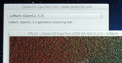 GpuTest, Geometry Instancing test on OSX