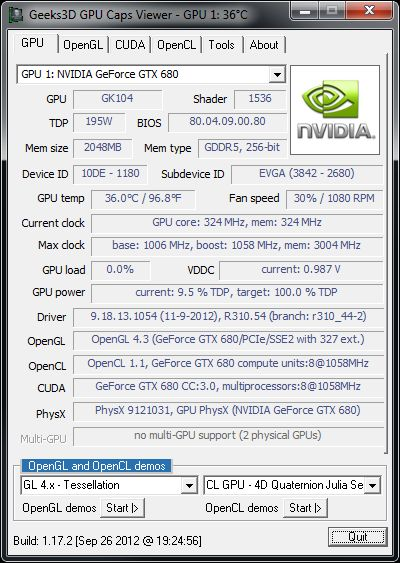 NVIDIA R310.54, GPU Caps Viewer