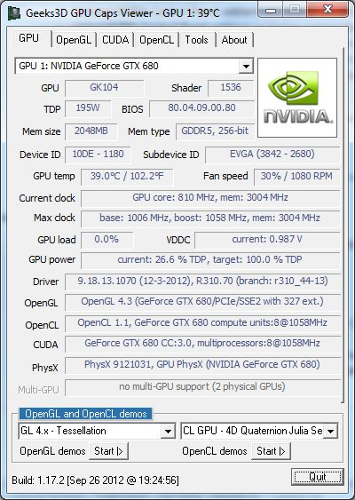 R310.70 WHQL + GPU Caps Viewer