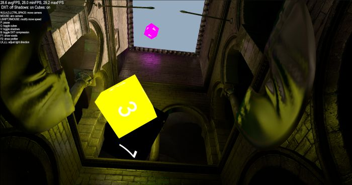 Voxel Cone Tracing Global Illumination in OpenGL 4.3
