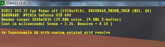 AMD SuperSample Anti-Aliasing11 V1.0 demo