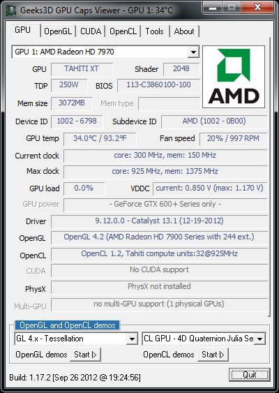 AMD Catalyst 13.1, GPU Caps Viewer info