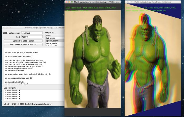 GLSL Hacker, multi-output demo on OSX