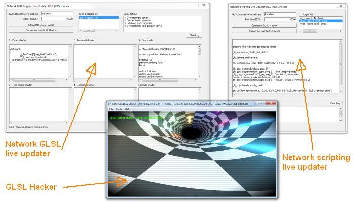 GLSL Hacker, network live coding tools