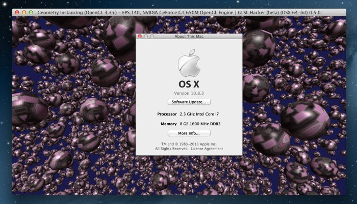 GLSL Hacker and OSX 10.8.3