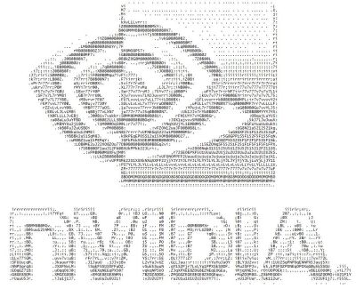 NVIDIA logo ascii