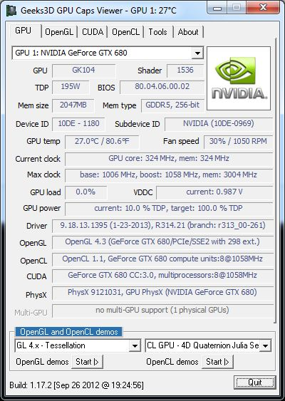 R314.21 + GTX 680 + GPU Caps Viewer
