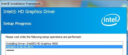 Intel HD Graphics Driver v3071