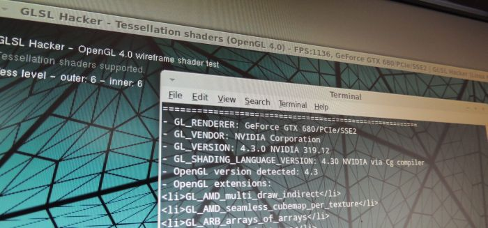 NVIDIA R319.12 for Linux, Solaris and FreeBSD, GLSL Hacker test