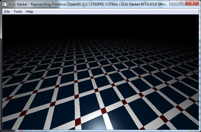 Build Worlds With Distance Functions in GLSL, GLSL Hacker