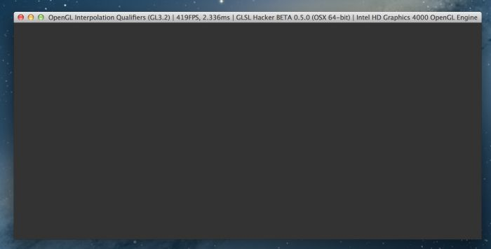 GLSL Hacker - OpenGL 3.2 interpolation qualifiers mismatch, OS X + Intel HD 4000
