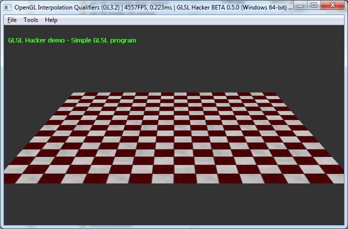 GLSL Hacker - OpenGL 3.2 interpolation qualifiers - smooth