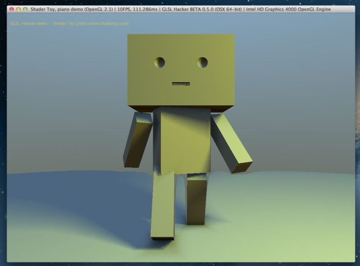 Shadertoy demo ported t