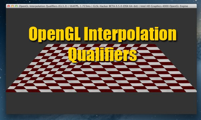 OpenGL interpolation qualifiers (GLSL)