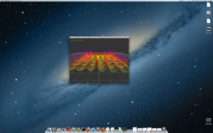 GLSL Hacker, Graph3D demo, Mac OS X