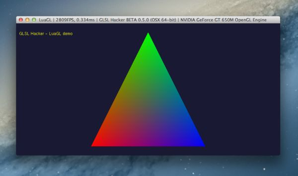 GLSL Hacker, LuaGL demo, Mac OS X