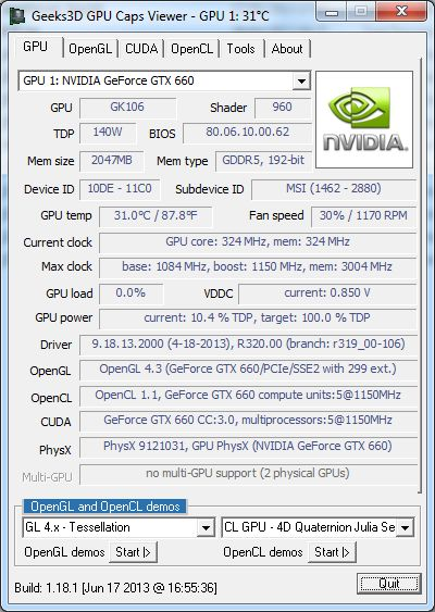 GPU Caps Viewer 1.18.1