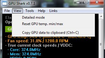 GPU Shark 0.7.1, copy to clipboard