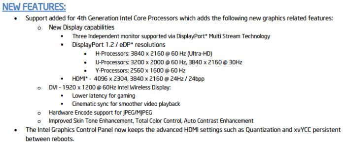 Intel Iris and HD Graphics Driver v3165