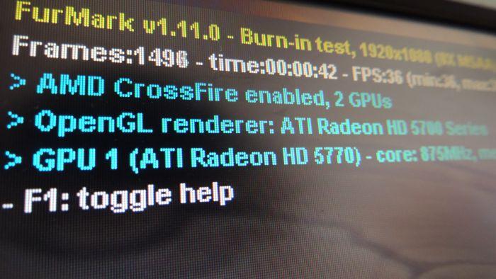 FurMark 1.11.0, AMD CrossFire status