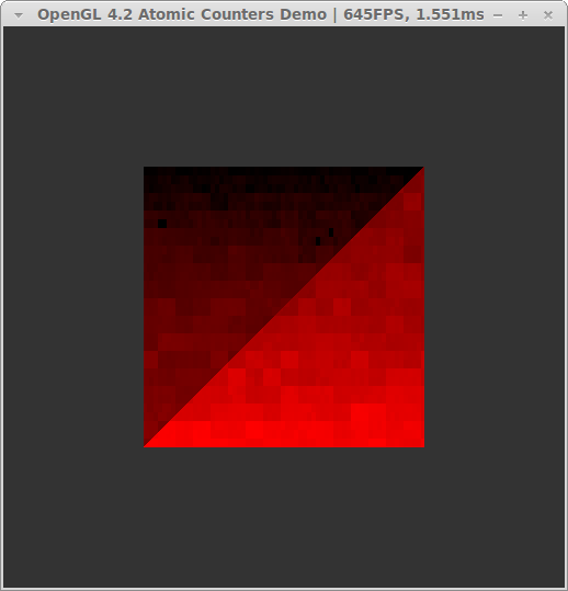 OpenGL 4.2 atomic counters, rasterization pattern