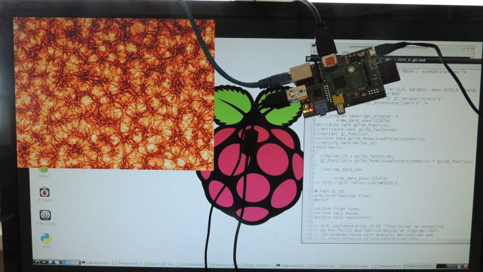 GLSL Hacker on Raspberry Pi - GLSL Sandbox 3155.2 demo