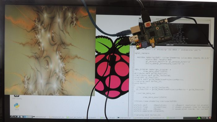 GLSL Hacker on Raspberry Pi - Shadertoy Julia demo