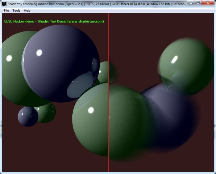 Shadertoy demo ported to GLSL Hacker
