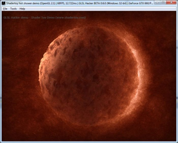 Shadertoy To GLSL Hacker Demos (September 19, 2013) | Geeks3D