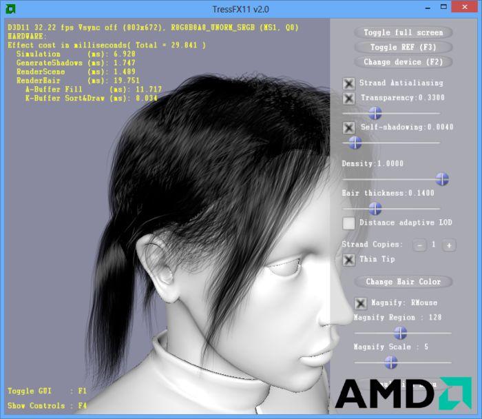 AMD TressFX11 v2.0 Demo
