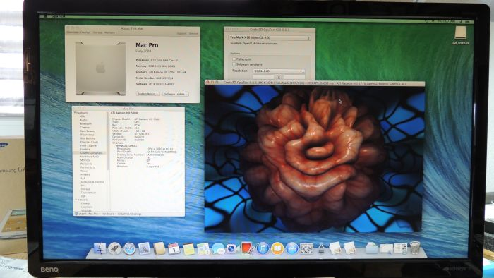 Hackintosh, OS X 10.9, GpuTest OpenGL 4 demo